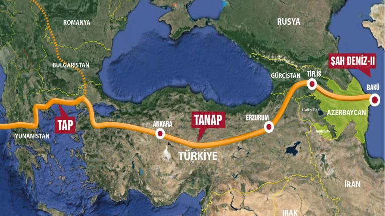 """трансанадолския газопровод """"Танап"""""""